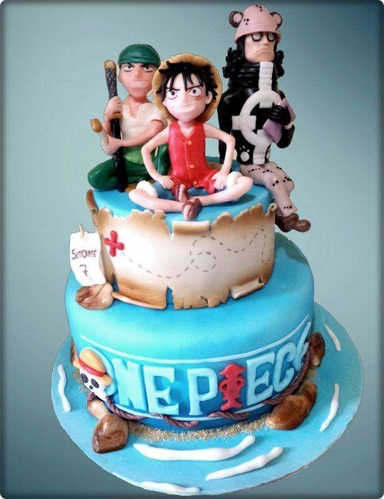 One Piece Pirates Party Ideas Pinterest One Piece Anime Cake
