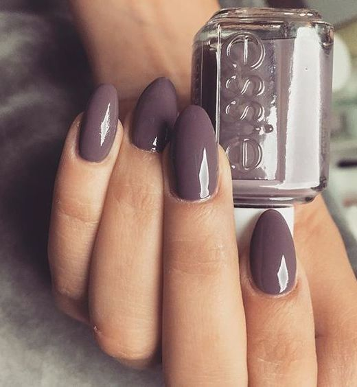 11 Trendy Easy Nail Art Ideas: #8. Mauve Pointed Nails