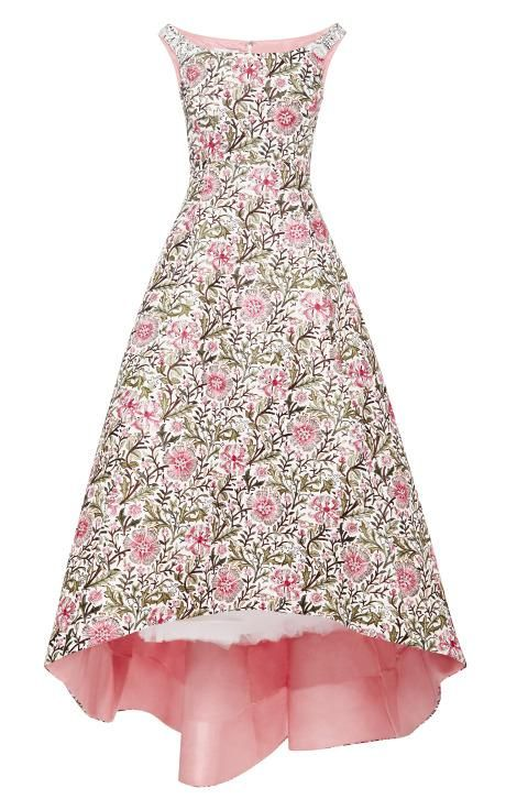 Embellished Floral Brocade Gown by Oscar de la Renta Now Available on Moda Operandi