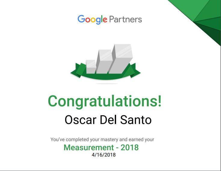 Google Partners: Measurement 2018 (16/04/2018)