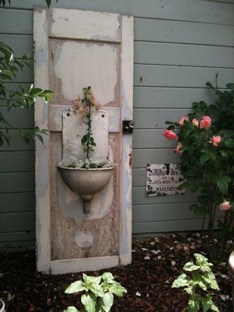 Sink door decorando y reciclando pinterest for Reciclado de puertas