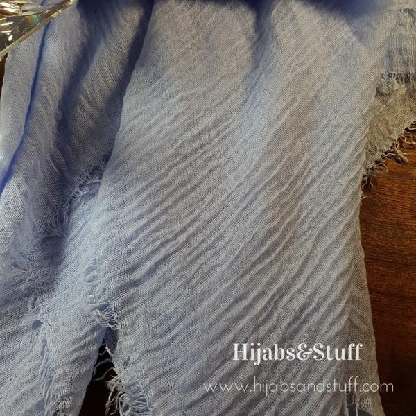 Rippled Hijab - Baby Blue #05