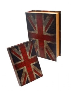 Stunning Pair of High Quality Wooden Union Jack Storage Boxes - Retro Style  Visit our family business...The Ginger Sheep. £18.99