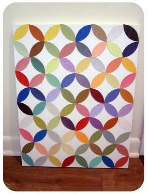 paper canvas by genevieve.gen.3  DIY art for apt. living