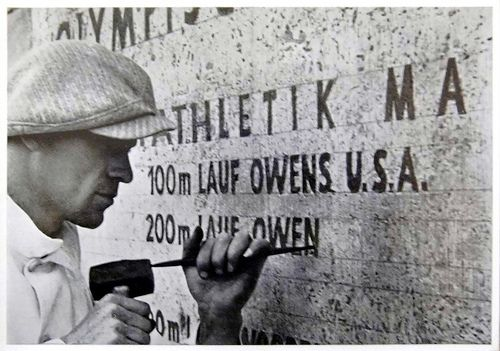 1936 Berlin Olympics Photograph - Listing Jesse Owens' 100 and 200 Meter Sprint Victories.