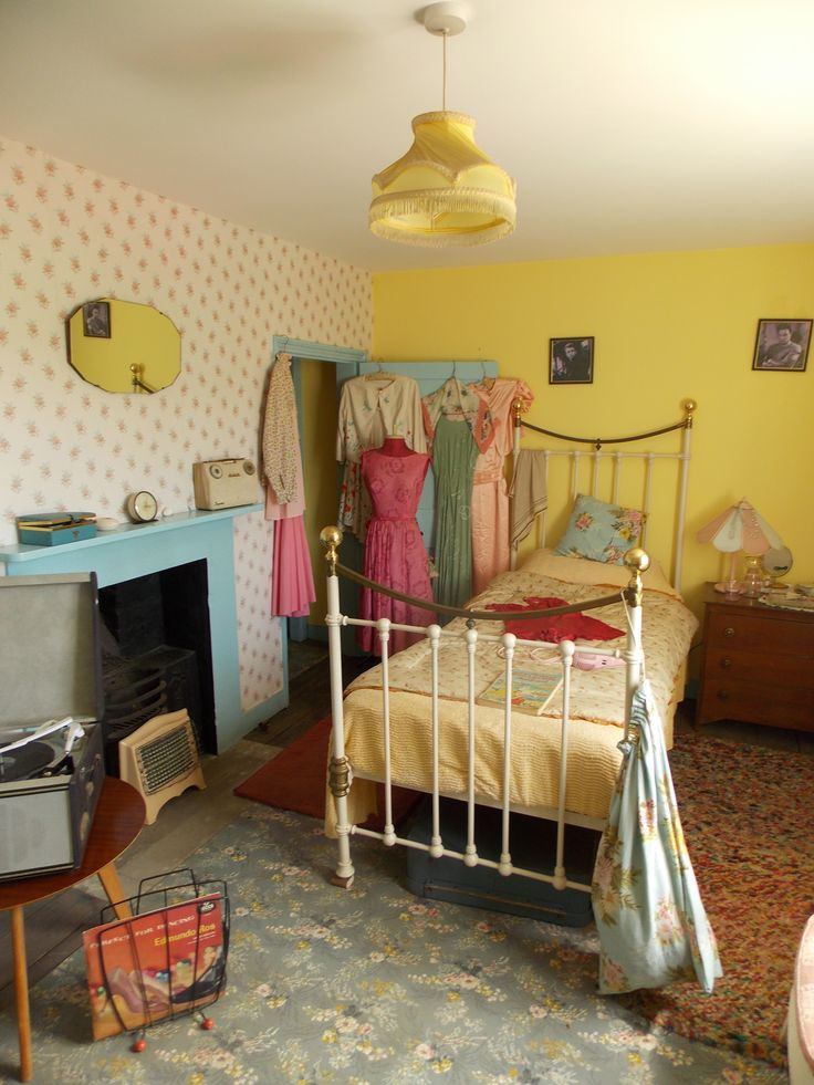 40s bedroom, Sandling, Kent, UK by B Lowe