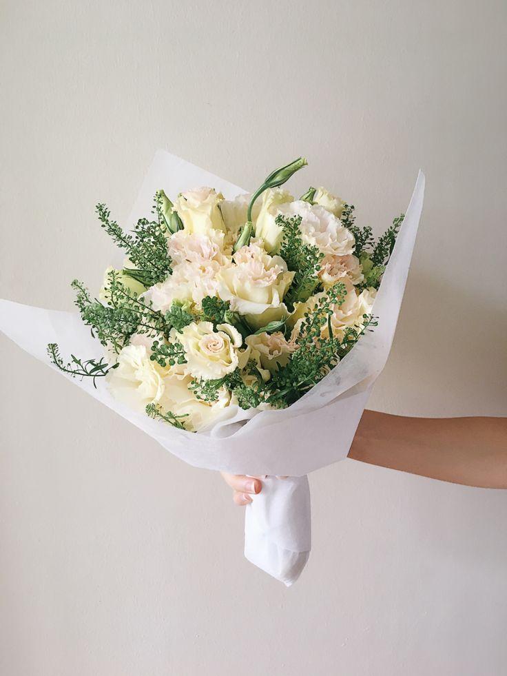 Zen bouquet featuring Eustoma Blooms