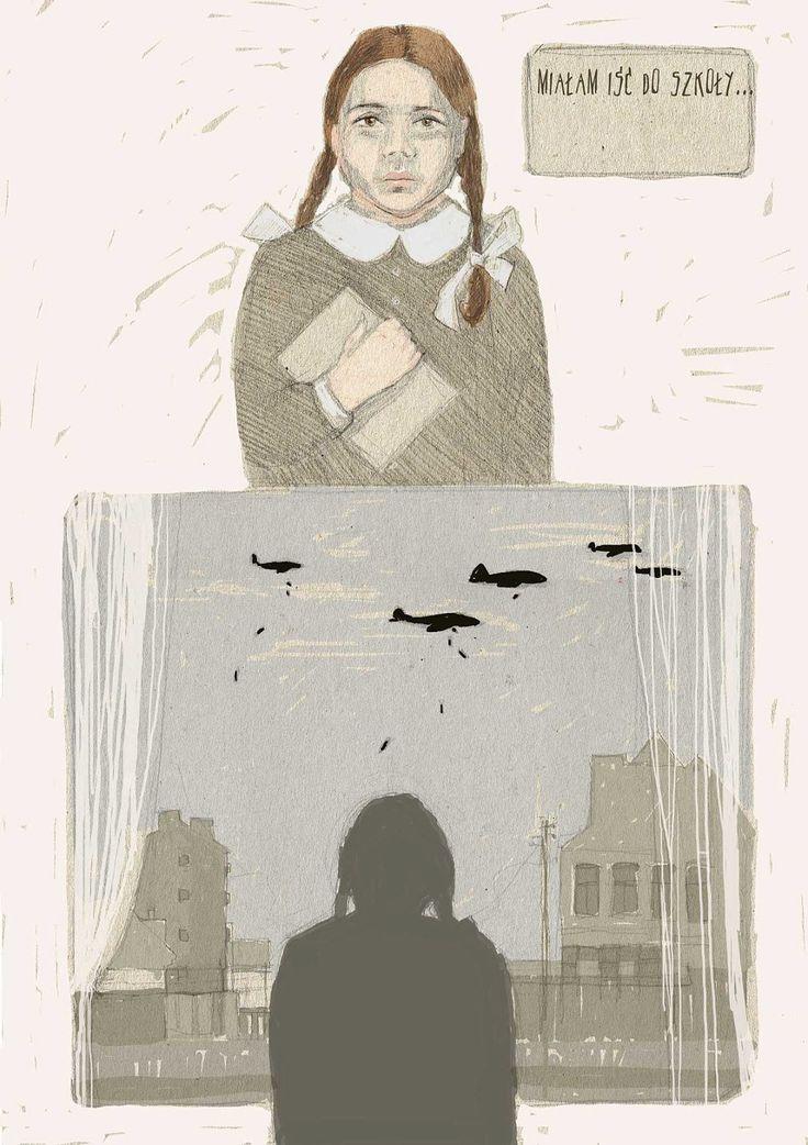 bombowe lalki opowieści praga gada 2013 Urbaniak komiks dzieci retro bomber dolls illustration comic story about 2nd world war in Poland