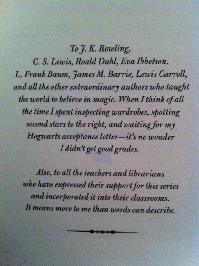 The Land of Stories by Chris Colfer. I love this because he was- and still is- a fanboy, and now he's created a world with its own fanatics. I think that that's the greatest accomplishment any book lover who writes could achieve.