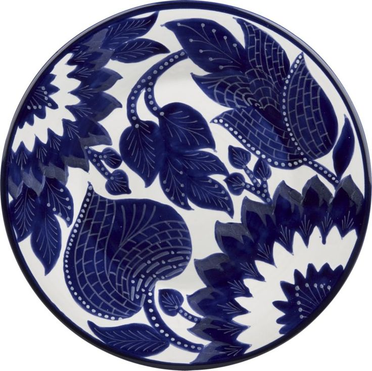 "Palmira Plate in Dinner Plates | Crate and Barrel (11.25"")"