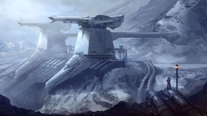 This picture inspired the ore refinery on Manphos where Eryman was hiding in part two of The Sepherene Chronicles.