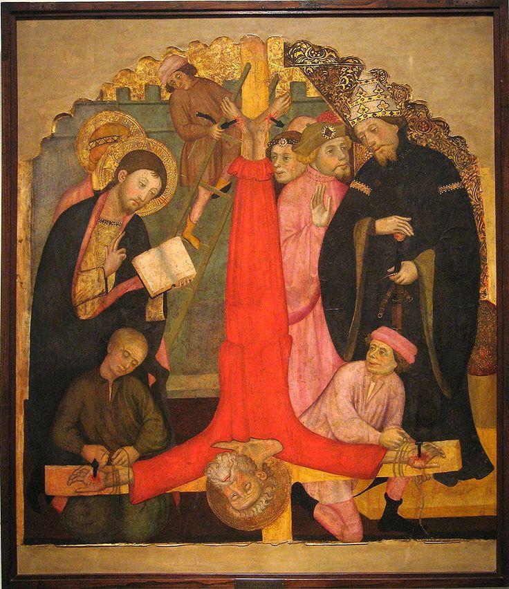 Педро Серра.   Распятие Св. Петра, 1400 г.