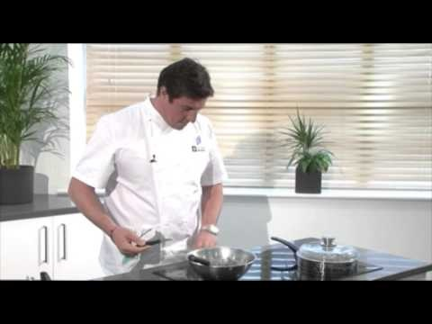 English asparagus with smoked hay by Chef Claude Bosi on the Electrolux induction hob