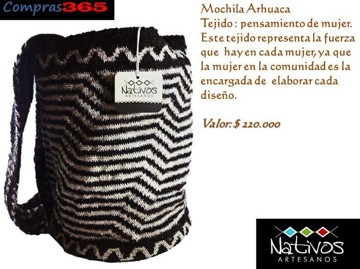 #MochilaArhuaca #Diseño #Exclusivo  Solicítala ya! Envío gratis en #Valledupar #Etnicos #Mochilas