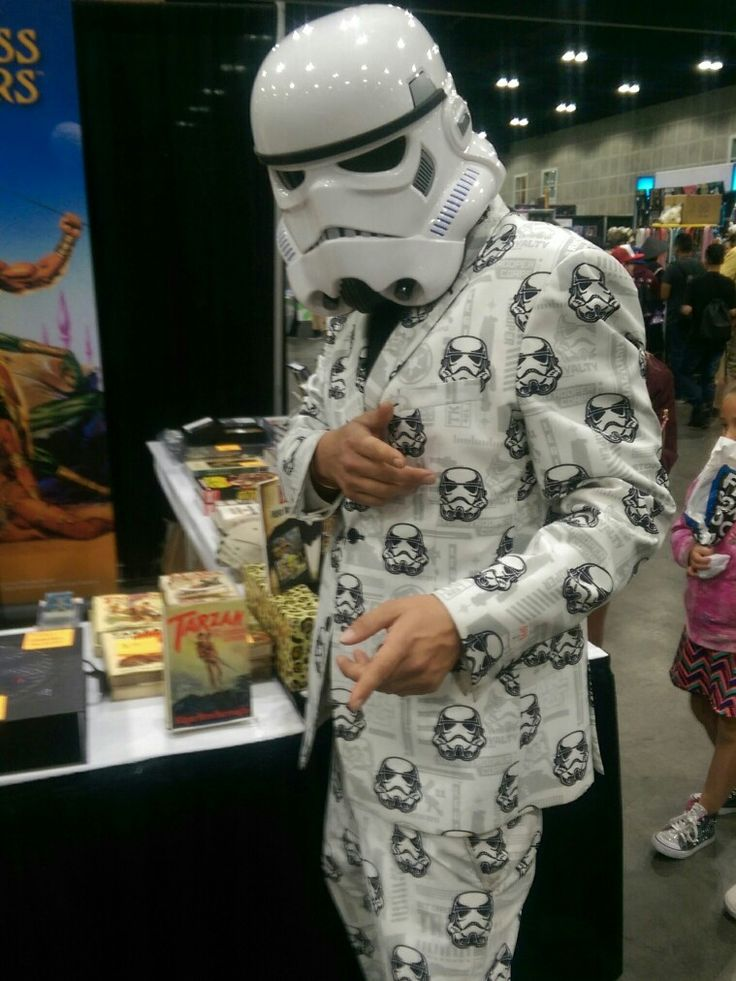 Suit & Tie Storm Trooper from Star Wars  at  Stan Lee's L.A. Comic Con in 2017