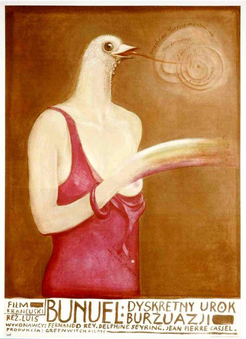 Franciszek Starowieyski. Poster for El discreto encanto de la burguesía by Luis Buñuel
