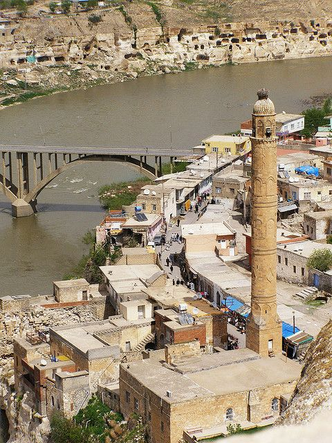 The ancient town of Hasankeyf along the Tigris River in southeastern Turkey