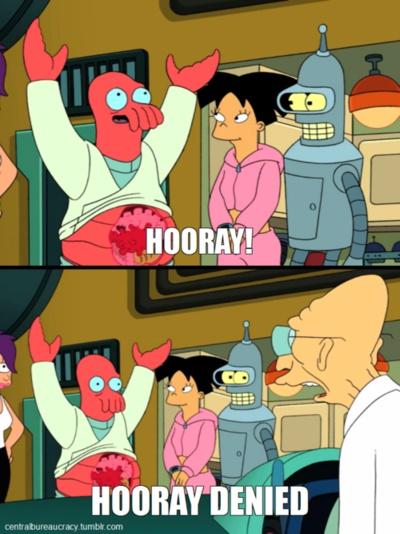 Exceptional Hooray Denied   Futurama