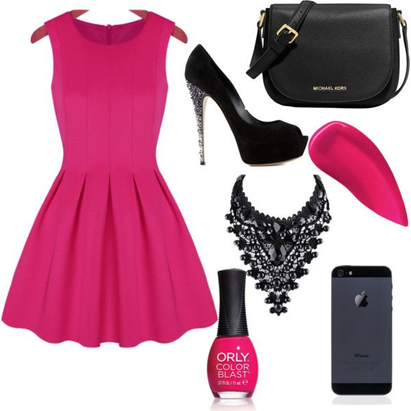 PINK LOVE♡ by jeanettejeanette on Polyvore featuring polyvore fashion style Casadei MICHAEL Michael Kors Kevyn Aucoin ORLY