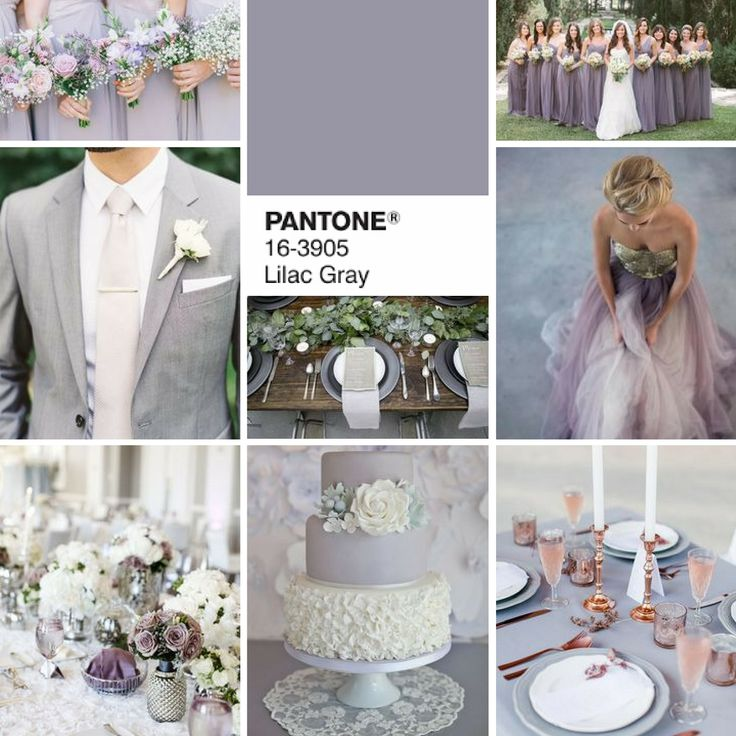 Get classy with LILAC GREY (Pantone colour of 2016 ) | Grey wedding | classy…