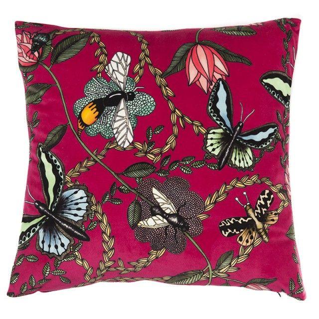 Bugs - Nadja Wedin design #nordicdesigncollective #bugs #nadjawedin #butterfly #pillow