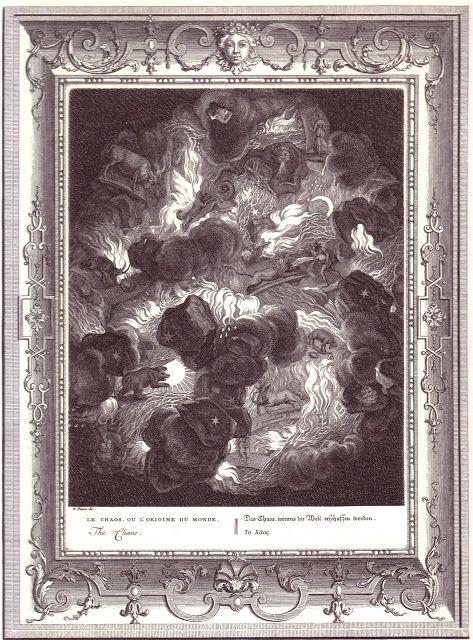 3.Το Χάος, η Γαία και ο Έρως αποτέλεσαν την πρωταρχική τριάδα απ' την οποία γεννήθηκαν οι θεοί της μυθολογίας. Η Νύχτα άφησε στους κόλπους του Ερέβους το Κοσμικό Αβγό οπότε και δημιουργήθηκαν το Χάος, η Γαία, ο Τάρταρος (τα σπλάχνα της Γαίας) και ο Έρωτας......