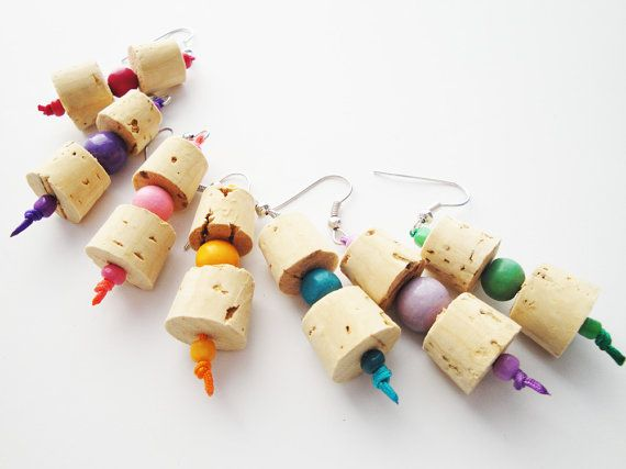 Check out this item in my Etsy shop https://www.etsy.com/listing/225946468/cork-jewelry-handmade-earrings-eco
