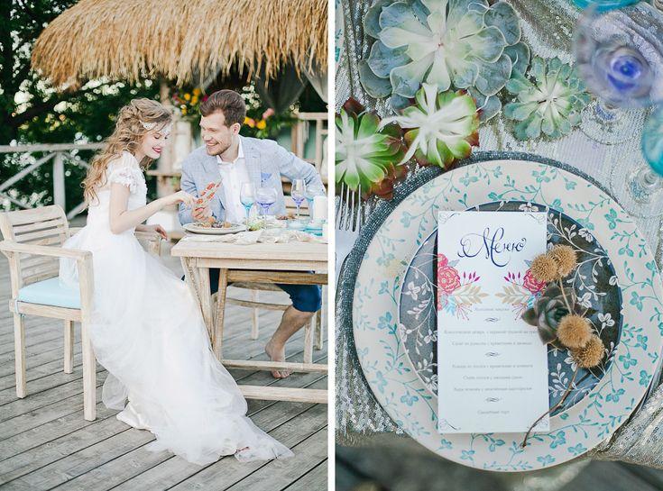Wedding style Boho chic. Design studio - NNdecor, Photo - Yana Yartseva, Muah - Sveta Mart