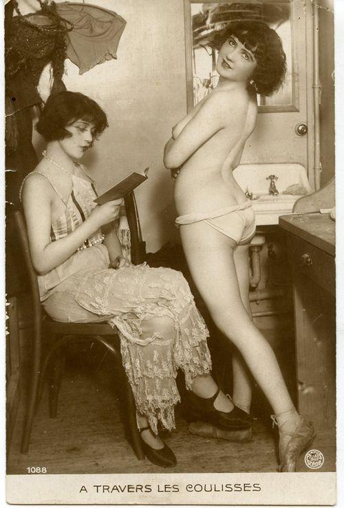 Vintage French Postcard of Dancers Backstage: 1920 S, Behind The Scenes, Vintage Erotica, Scene, 1920S, Photo