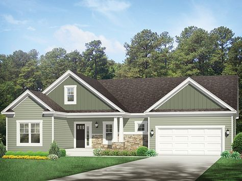 $150,000 or less! ePlans Ranch House Plan – Splendid Ranch For Empty Nesters – 1571 Square Feet and 3 Bedrooms from ePlans – House Plan Code HWEPL77420