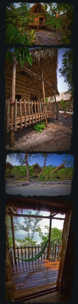 Monkey Island, Cambodia.  Beach Bungalows for $15/night see http://shvguide.com/koh-rong for more info