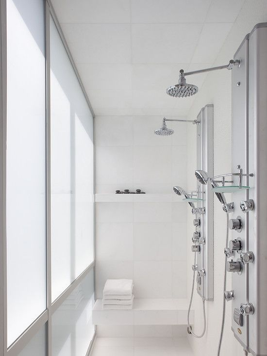 Bathroom Shower This Is So Cool Dual Shower Heads I Need