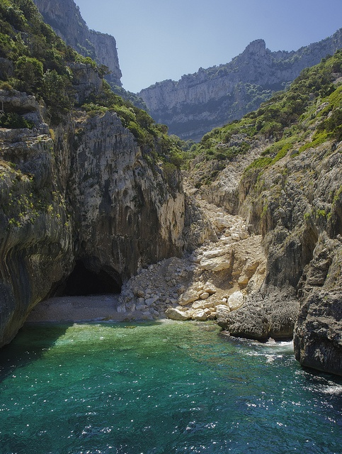Hidden cave, Orosei Gulf, Italy