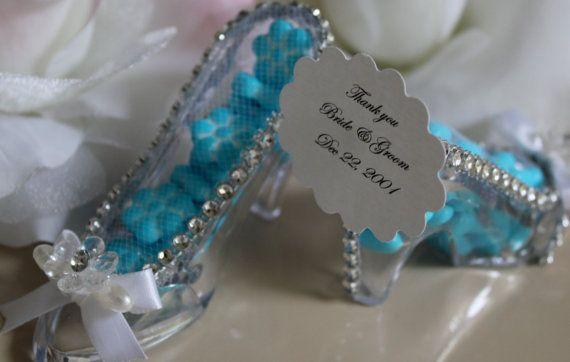 Bride Tiffany Favor Slippers Cinderella Wedding