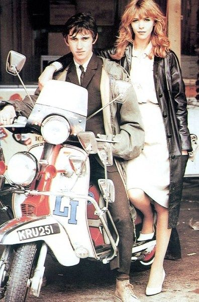 Lambretta mod scooter -- Quadrophenia movie (Jimmy and Steph)