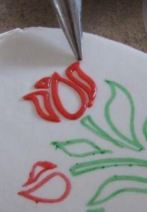 Cómo utilizar las plantillas para decorar las galletas