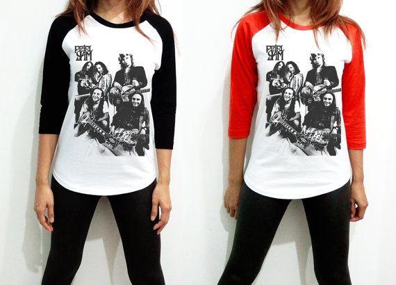 Pearl Jam - US American Rock Band Singer Billboard Music Women Long Sleeve Baseball Shirt Tshirt Jersey