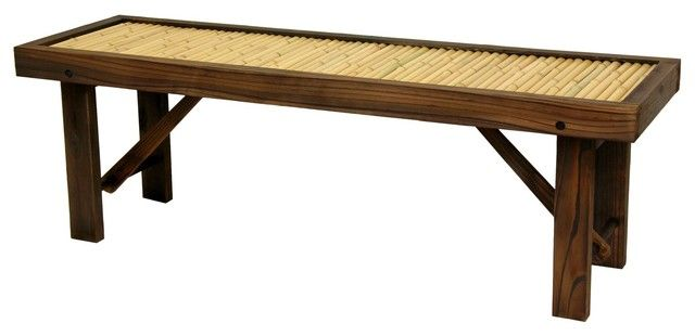 Japanese, Asian, bench, bonsai, table, bamboo, sleek, geometric