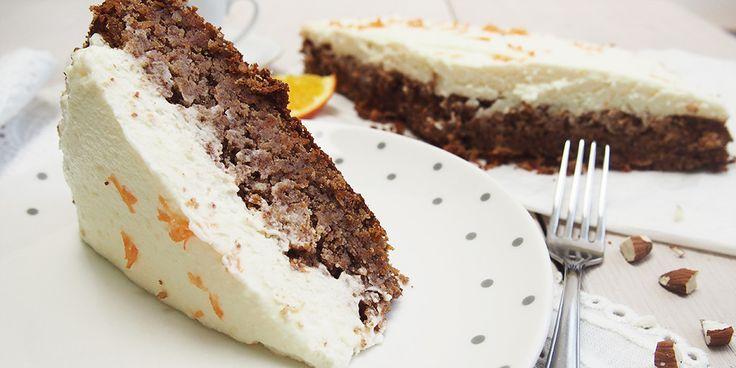 Mrkvový koláč z mandlové mouky