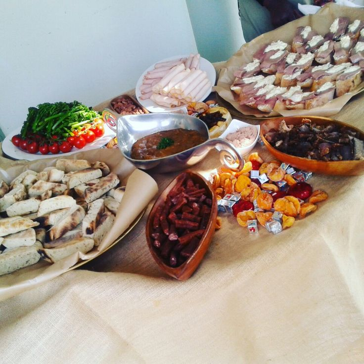 Breads, cheeses, cold meats, dry meats and Creamy chicken liver dip!