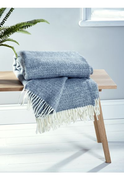 NEW Soft Wool Throw - Grey - Decorative Home - Indoor Living