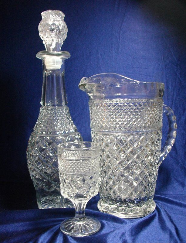 Antique Glassware Patterns | Anchor Hocking Wexford Pattern Glassware (item #885673, detailed views ...
