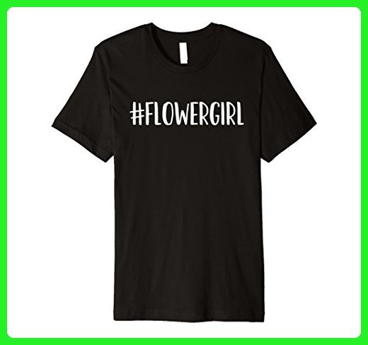 Mens Hashtag Flower Girl - Popular Wedding Quote T-Shirt XL Black - Wedding shirts (*Amazon Partner-Link)