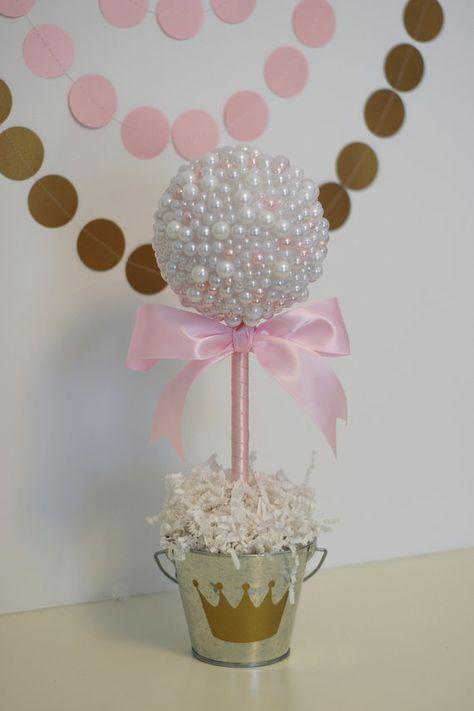 CENTROS DE PERLA. Perlas blancas y rosas. por SweetGeorgiaSweet