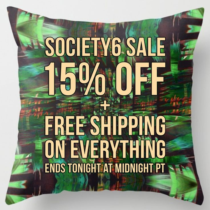 PROMO SCHEDULE & INFORMATION   11/20: 24 HR Only 15% Off + Free Shipping on Everything Starts at 12:00 AM PT Ends at 11:59 PM PT  https://society6.com/fredericomaia  ❤