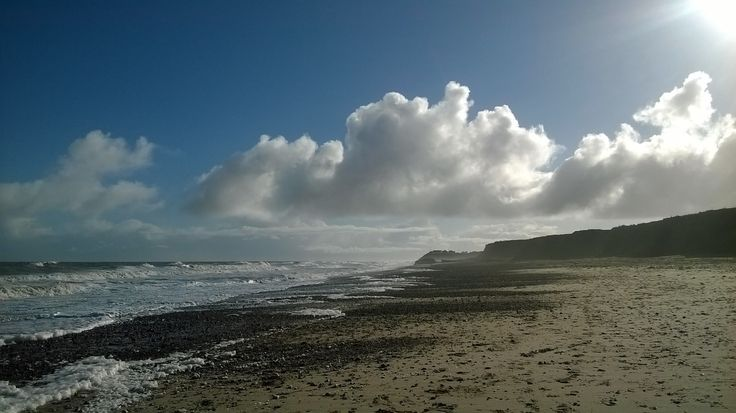 Our fabulous beach at Happisburgh. Dog friendly all year round. Only 2 miles from Church View Cottage.