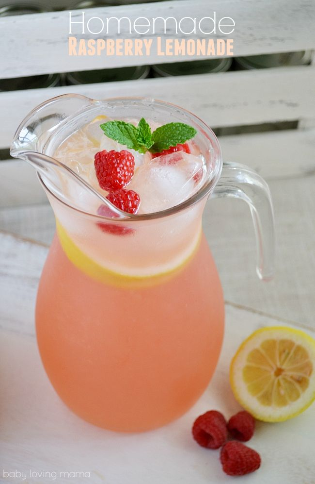 Homemade Raspberry Lemonade: See how easy it is to make raspberry lemonade with freshly squeezed lemons, sugar and a homemade raspberry simple syrup. This is a perfect summer drink and great way to use those fresh raspberries!