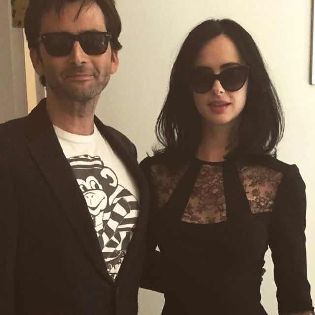 PHOTO: David Tennant & Krysten Ritter Attend The HFPA Press Conference For Marvel's Jessica Jones