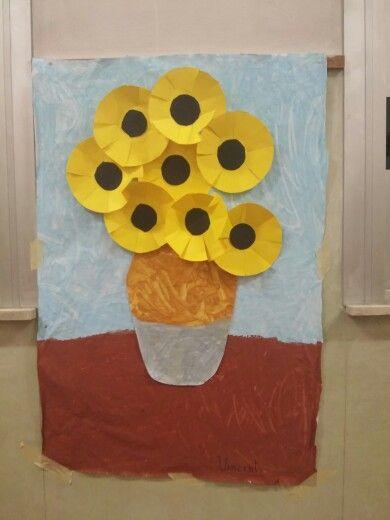Painting a Van Gogh #sunflowers #kids #art #experience #3d