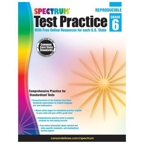 Spectrum Test Practice - 6th Grade | Workbooks | Math